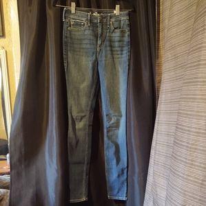 Hollister High-Rise Super Skinny Dark Wash Jeans